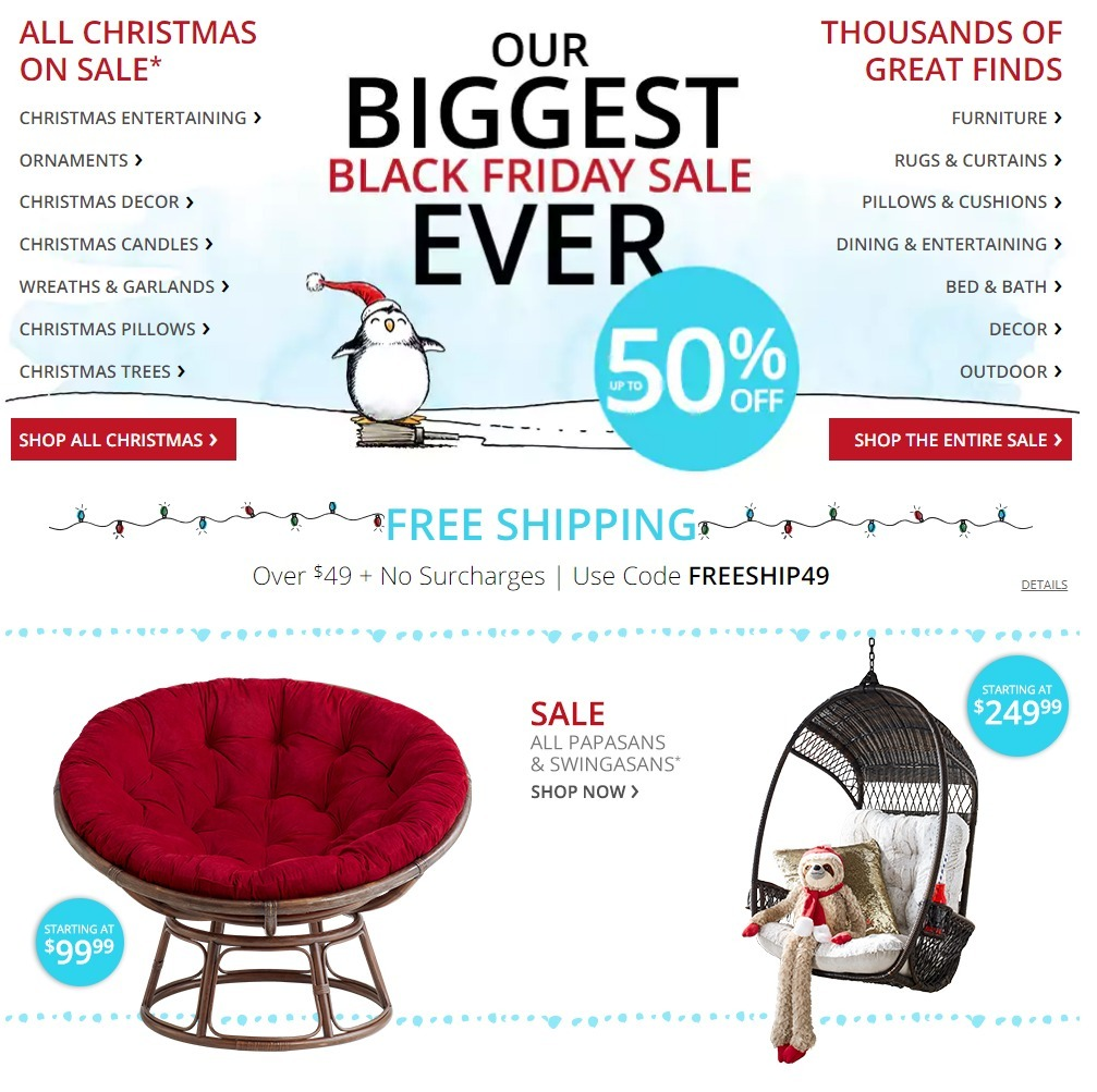 Pier 1 Imports Black Friday page 1